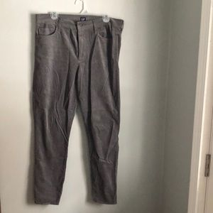Gap gray high rise velvet pant/legging. Size 32